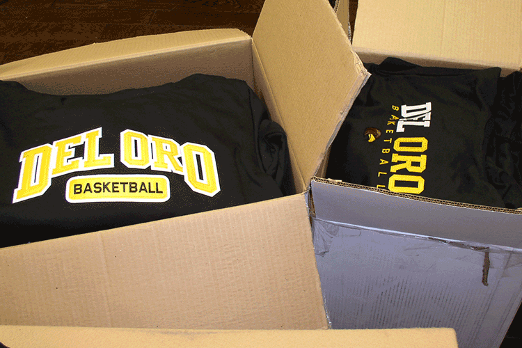 del oro boxes up and ready to go